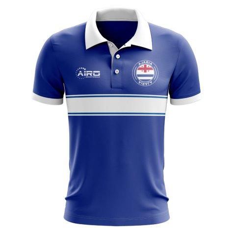 Ajaria Concept Stripe Polo Shirt (Blue)