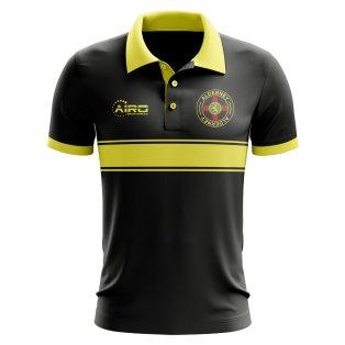 Alderney Concept Stripe Polo Shirt (Black)