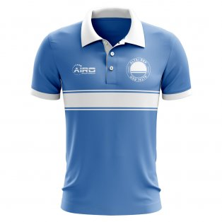Altai Republic Concept Stripe Polo Shirt (Sky)