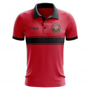 Angola Concept Stripe Polo Shirt (Red)