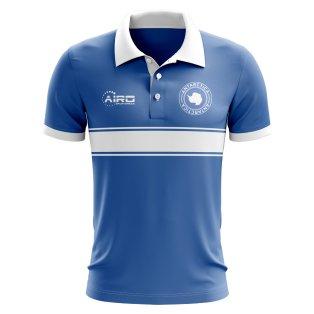 Antarctica Concept Stripe Polo Shirt (Blue)
