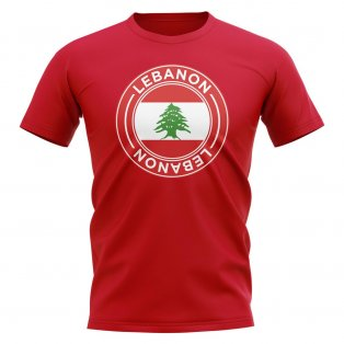 Lebanon Football Badge T-Shirt (Red)