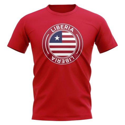 Liberia Football Badge T-Shirt (Red)