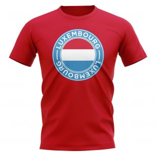 Luxembourg Football Badge T-Shirt (Red)