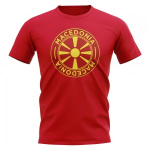 Macedonia Football Badge T-Shirt (Red)