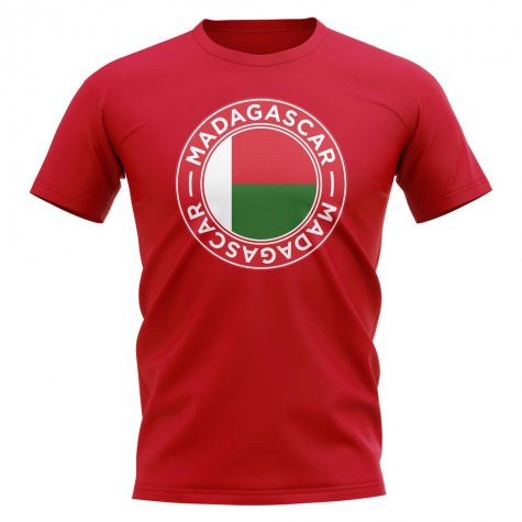 Madagascar Football Badge T-Shirt (Red)