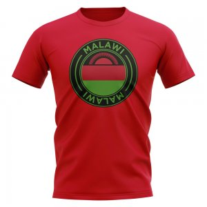 Malawi Football Badge T-Shirt (Red)