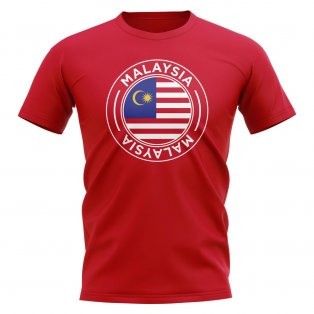 Malaysia Football Badge T-Shirt (Red)