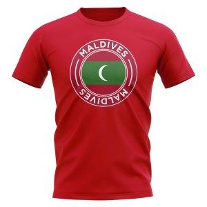 Maldives Football Badge T-Shirt (Red)