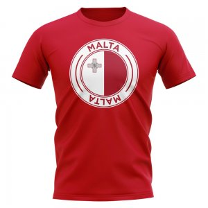 Malta Football Badge T-Shirt (Red)
