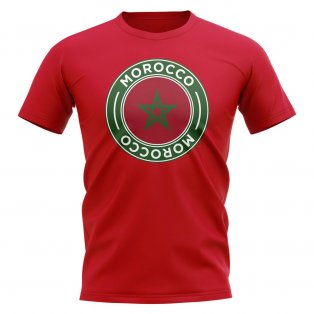 Morocco Football Badge T-Shirt (Red)