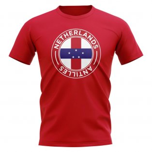 Netherlands Antilles Football Badge T-Shirt (Red)
