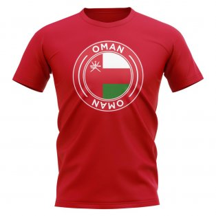 Oman Football Badge T-Shirt (Red)