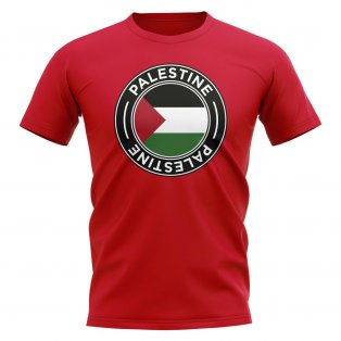 Palestine Football Badge T-Shirt (Red)