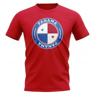 Panama Football Badge T-Shirt (Red)
