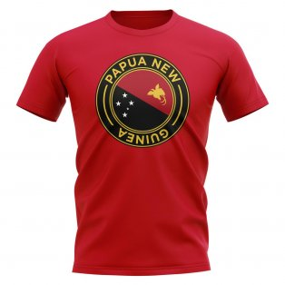 Papa New Guinea Football Badge T-Shirt (Red)
