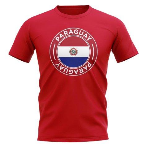 Paraguay Football Badge T-Shirt (Red)