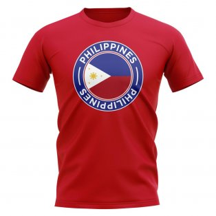 Philippines Football Badge T-Shirt (Red)