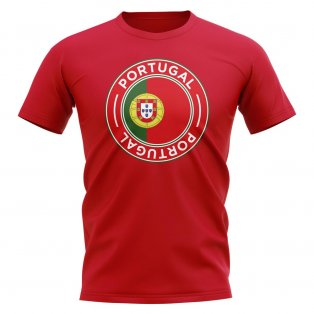 Portugal Football Badge T-Shirt (Red)
