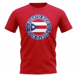 Puerto Rico Football Badge T-Shirt (Red)