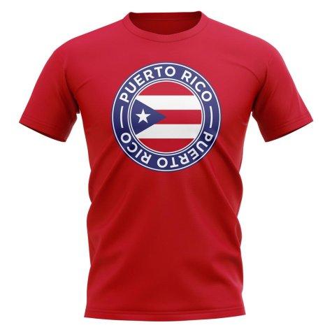 Puerto Rico Football Badge T-Shirt (Red)
