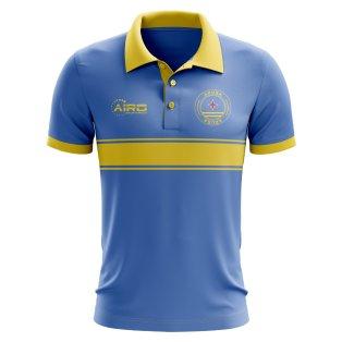 Aruba Republic Concept Stripe Polo Shirt (Blue)
