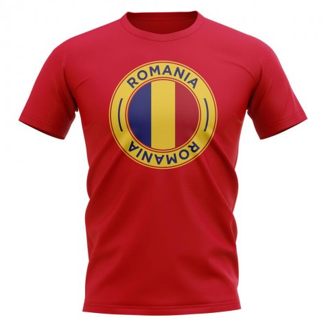 Romania Football Badge T-Shirt (Red)