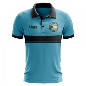 Bahamas Concept Stripe Polo Shirt (Sky)