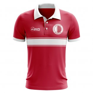 Bahrain Concept Stripe Polo Shirt (Red)