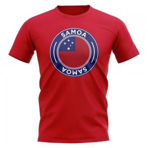 Samoa Football Badge T-Shirt (Red)