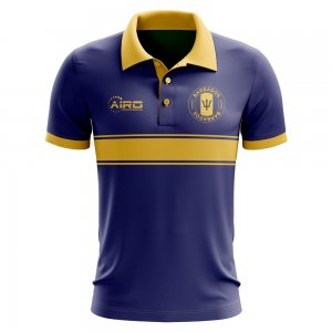 Barbados Concept Stripe Polo Shirt (Navy)