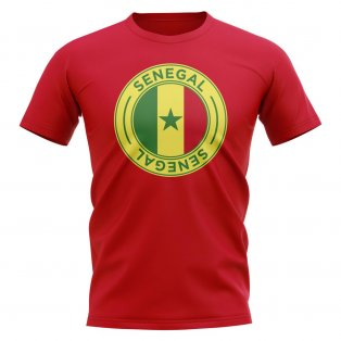 Senegal Football Badge T-Shirt (Red)