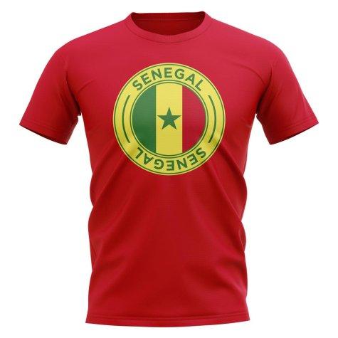 Senegal Football Badge T-Shirt (Red)