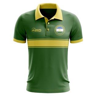 Bashkortostan Concept Stripe Polo Shirt (Green)