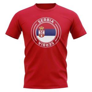 Serbia Football Badge T-Shirt (Red)