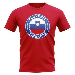Slovenia Football Badge T-Shirt (Red)