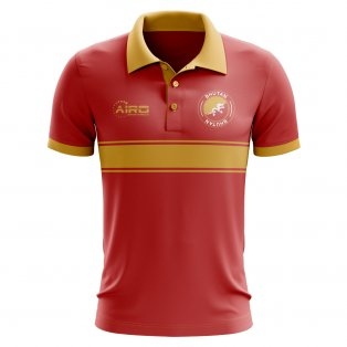 Bhutan Concept Stripe Polo Shirt (Red)