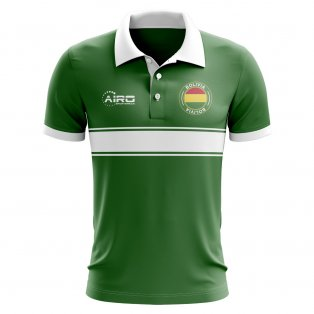 Bolivia Concept Stripe Polo Shirt (Green)