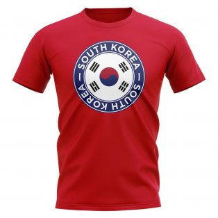 South Korea Football Badge T-Shirt (Red)
