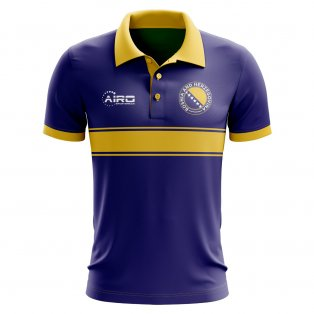 Bosnia Concept Stripe Polo Shirt (Blue)