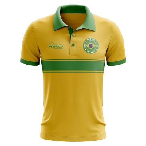 Brazil Concept Stripe Polo Shirt (Yellow)