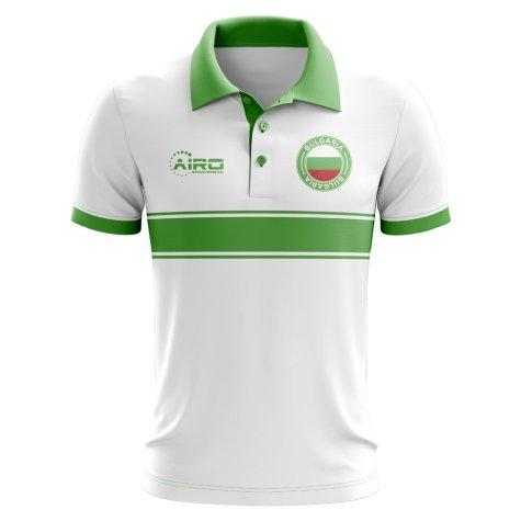 Bulgaria Concept Stripe Polo Shirt (White)
