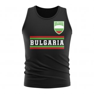Bulgaria Core Football Country Sleeveless Tee (Black)
