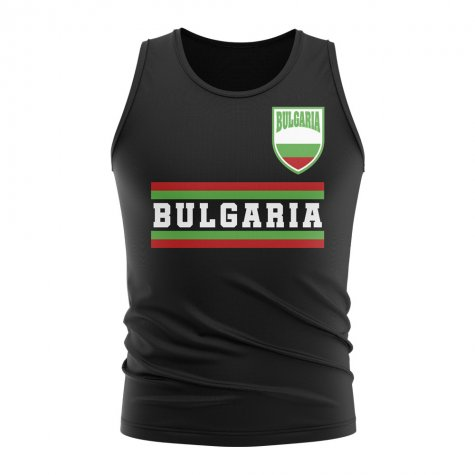 Bulgaria Core Football Country Sleeveless Tee (Black)