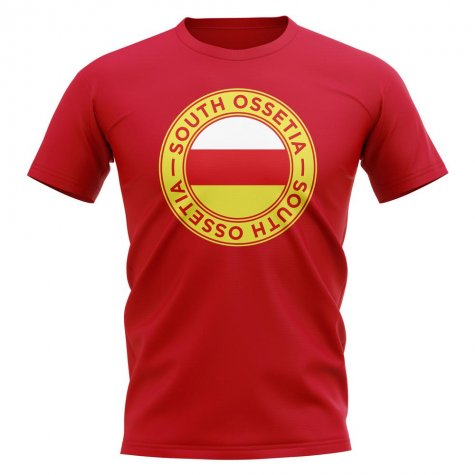 South Ossetia Football Badge T-Shirt (Red)