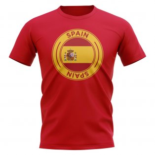 Spain Football Badge T-Shirt (Red)