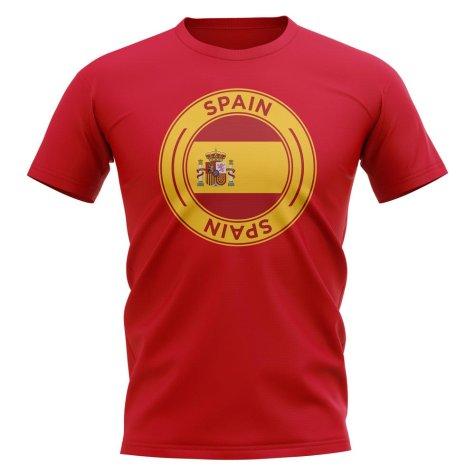 Spain Football Badge T-Shirt (Red)