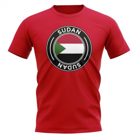 Sudan Football Badge T-Shirt (Red)