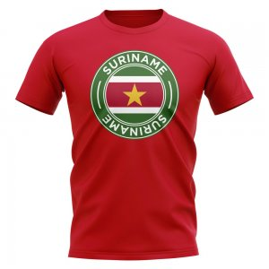 Suriname Football Badge T-Shirt (Red)