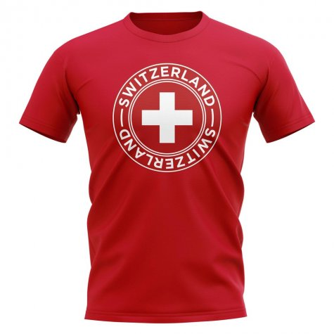 Switzerland Football Badge T-Shirt (Red)